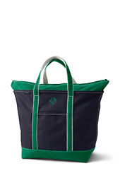 Extra Large Zip Top Colored Canvas Tote Bag