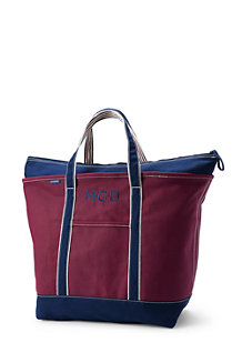 Extra Large Zip Top Coloured Canvas Tote