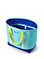 Extragroße Colorblock-Canvas-Tasche mit Reißverschluss