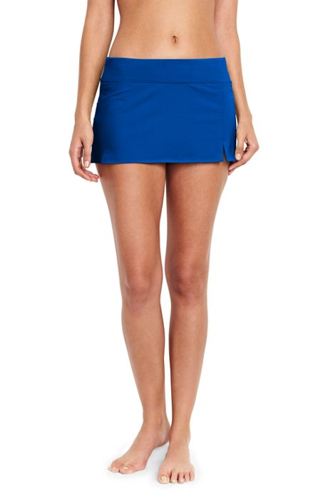 Women's Low Rise Sporty Mini Swim Skirt Swim Bottoms