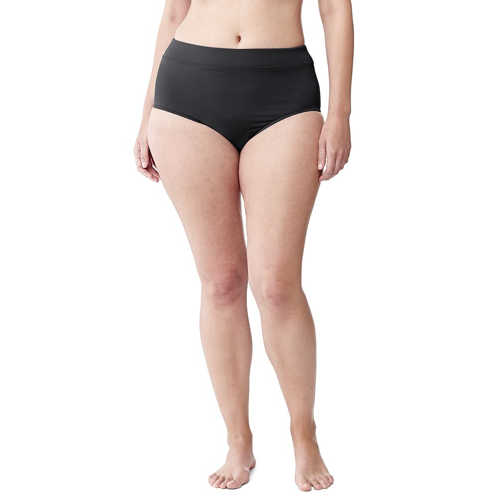 Lands' End Women's Plus Size Beach Living High Rise Swimsuit Bottom with Tummy Control at Sears.com