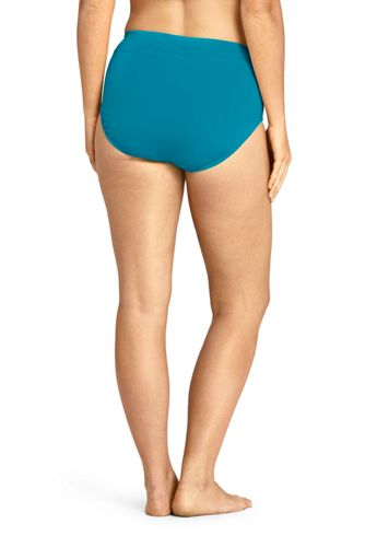 Women's Plus Size Tummy Control High Waisted Bikini Bottoms