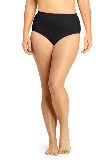 Women's Plus Size High Waisted Bikini Bottoms with Tummy Control