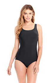 Women's Petite Tugless One Piece Swimsuit Soft Cup