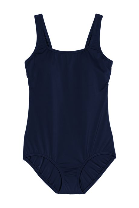Women's Petite Tugless One Piece Swimsuit Soft Cup with Tummy Control
