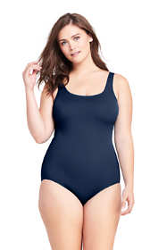 Women's Plus Size DD-Cup Tugless One Piece Swimsuit Soft Cup
