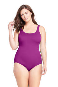 Women's Plus Size Tugless One Piece Swimsuit Soft Cup