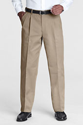 Men's Pre-hemmed Pleat Front Comfort Waist Blend Twill Pants