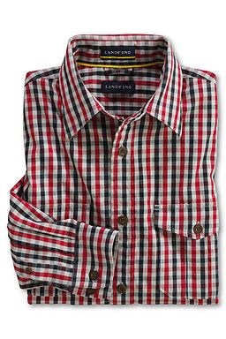 Outdoor Living Thermolite Shirt: Rich Red Check