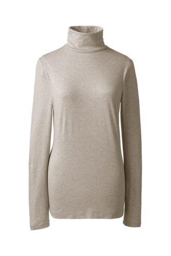 Women's Regular Fitted Cotton/Modal Roll Neck