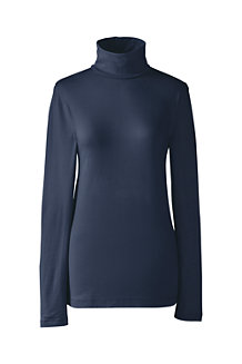 Women's Fitted Cotton/Modal Roll Neck