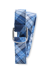 Girls' Plaid D-ring Belt