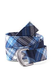 School Uniform Girls' Plaid D-ring Belt