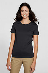 Women's Short Sleeve Interlock Jewelneck Top