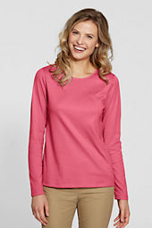 Women's Long Sleeve Interlock Jewelneck Top