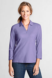 Women's 3/4-sleeve Blend Interlock Johnny Collar Top