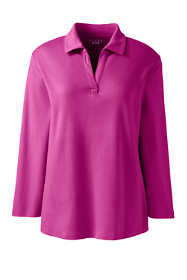 Women's Regular 3/4 Sleeve Interlock Johnny Collar