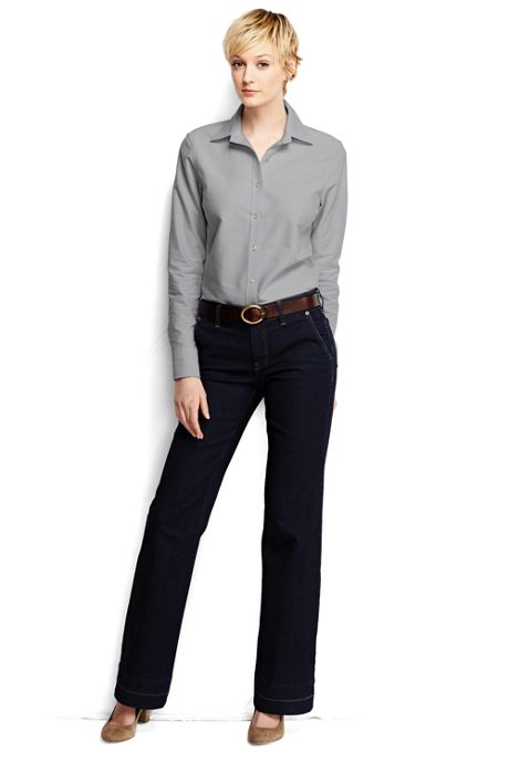 Women's Regular Long Sleeve Oxford Shirt