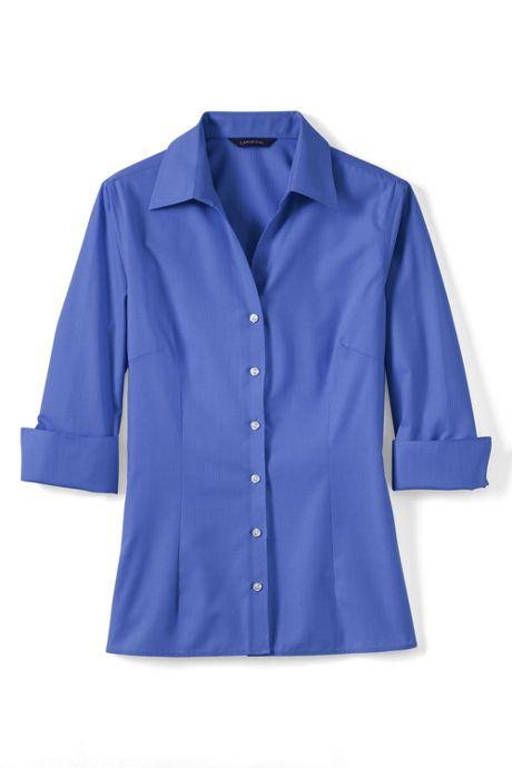 Women's Petite 3/4-sleeve Tonal Stripe Shirt