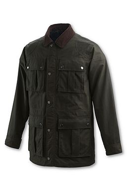 Oil Cloth Engineer Coat: Dark Olive Brown