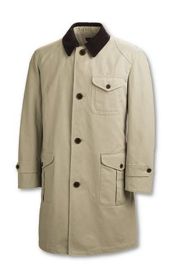 Canvas Field Coat: Field Khaki