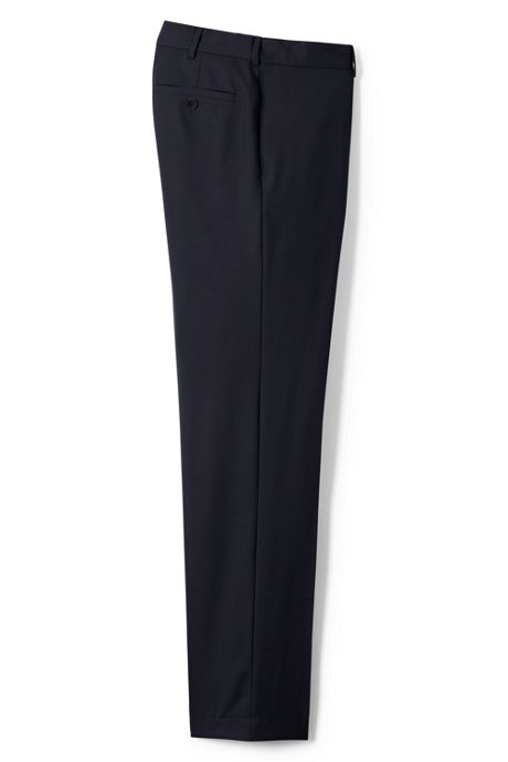 Men's Plain Front Tailored Fit Year'rounder Wool Dress Pants