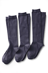 School Uniform Women's Solid Cotton Blend Trouser Sock  (3-pack)
