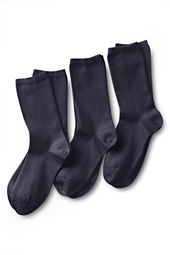 School Uniform Women's Solid Cotton Blend Anklet Sock  (3-pack)