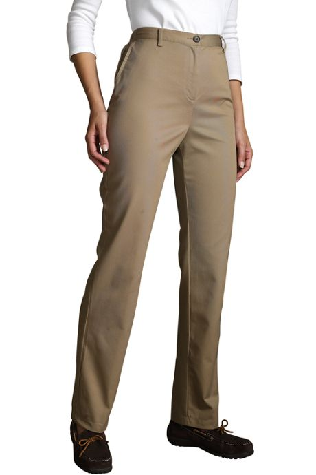 Women's Twill Elastic Back Pants