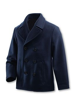 Wool Pea Coat: True Navy