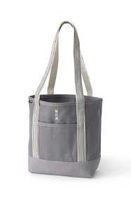 Medium Solid Color Open Top Long Handle Canvas Tote Bag