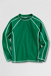 Boys' Long Sleeve Solid Rash Guard