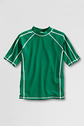Boys' Short Sleeve Solid Rash Guard