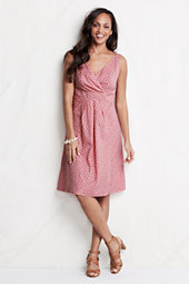 Women's Floral Cotton Lawn Empire Waist Dress