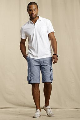 Lands' End Stripe Pincord Shorts: Nautical Navy Narrow Stripe