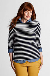 Women's 3/4-sleeve Boatneck Sailor Tee