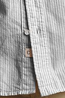 The Heritage Oxford Shirt: Gull Gray Stripe