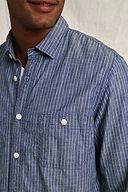 The Heritage Chambray Workshirt: Light Navy Stripe