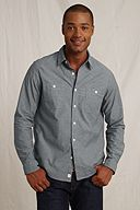 The Heritage Chambray Workshirt: Pewter Gray
