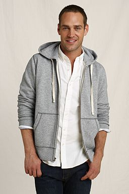 Vintage Fleece Hoodie: Gray Heather Marled
