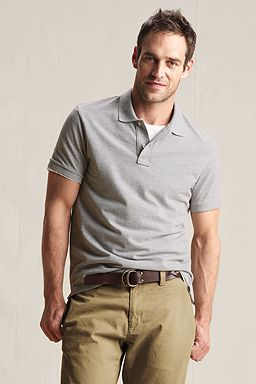 The Heritage Polo: Gray Heather