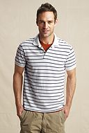 The Heritage Stripe Polo: White Stripe