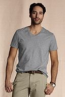 The Heritage V-neck Tee: Gray Heather