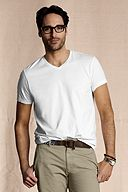 The Heritage V-neck Tee: White