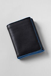 Casual Textured Tri-fold Wallet