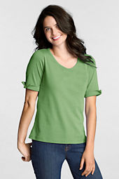 Women's Modern Half Sleeve Scoop Top