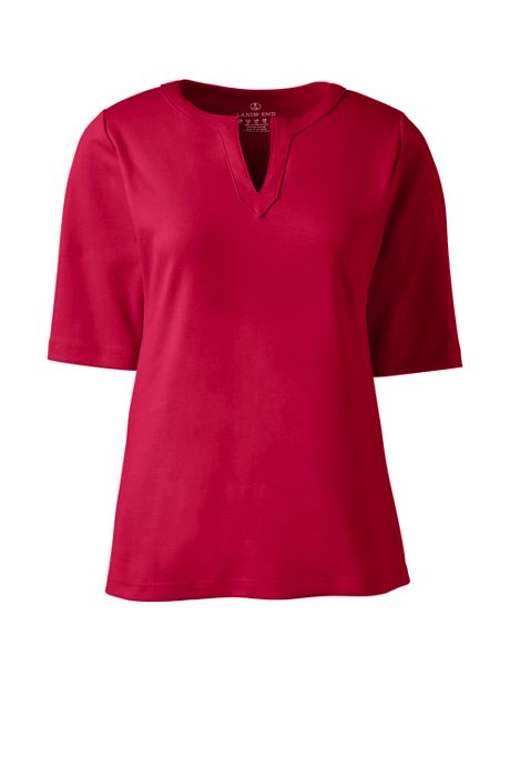 Women's Modern Half Sleeve Splitneck Shirt