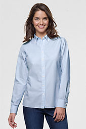 Women's Original Long Sleeve Stripe Washed Oxford Shirt