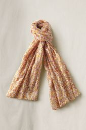 Oblong Print Cotton Scarf