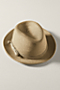 Women's Straw Fedora from Lands' End